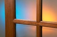 Mahogany Patio Doors 8-Lite French Doors Clear Beveled glass