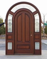 Round Doors & Round Top Solid Mahogany Double Doors Made ...