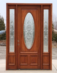 "8' 0"" Mahogany Front Door and Sidelights"