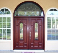 Double Doors with Arched Transoms - Half Round Transom