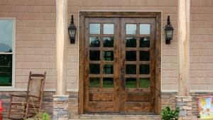 Knotty Alder Exterior Double Doors