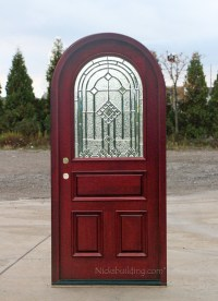 Round Top Doors | Mahogany Arched Exterior Doors
