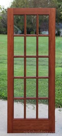 Interior French Doors Mahogany