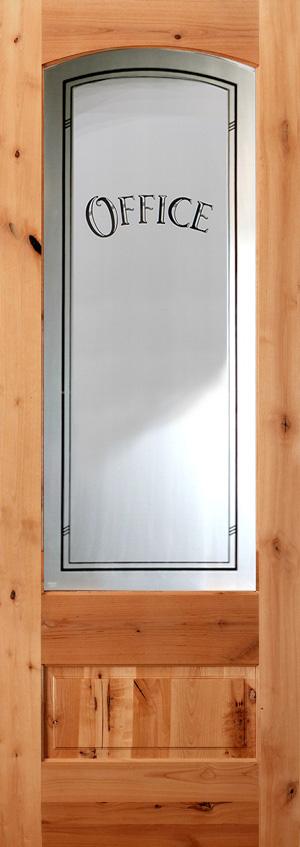 Interior Etched Glass Doors