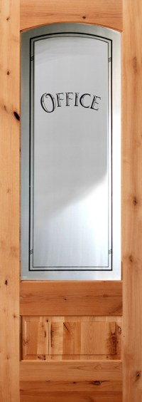 Interior Etched Glass Doors