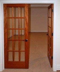 Interior French Doors Mahogany
