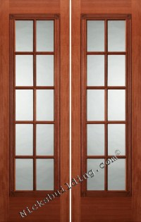 interior french doors Mahogany interior doors