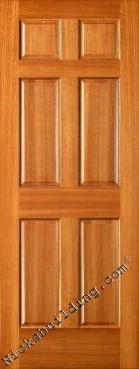 Interior Doors, Mahogany Six Panel Doors