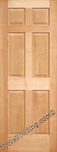 Maple Doors Interior Maple Doors - 6 Panel Maple Doors