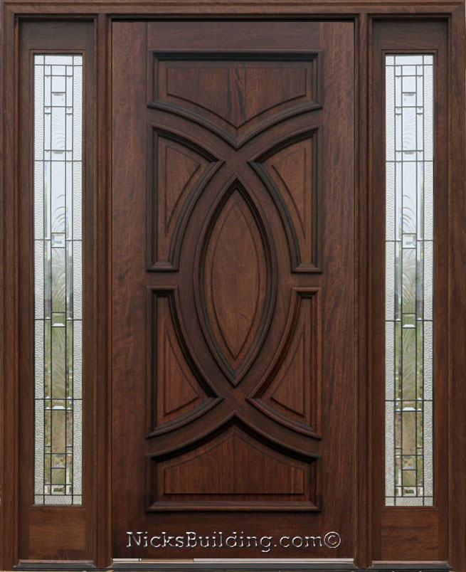Olympus Cellini Solid Wood Panel Door With AC 101 Sidelights