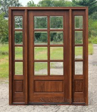 Exterior Doors with Sidelights - Solid Mahogany Entry Doors