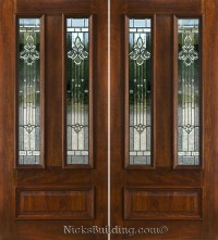 Double Doors: Double Front Entry Doors Glass