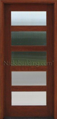 Reed Glass Doors & Reeded Glass Shown On Shaker Doors ...