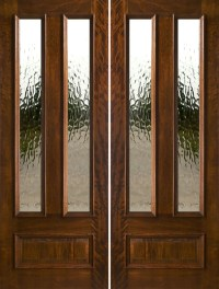 Exterior Double Doors - Solid Mahogany Double Doors 8-0