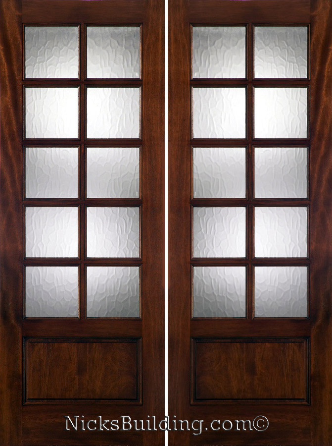10lite Patio Doors with Flemish Glass