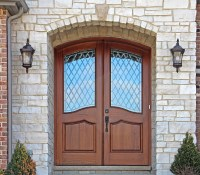 Mahogany Round Top Door