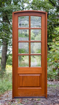 Arched Top French Doors with 8 Lite
