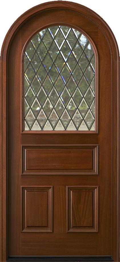 Arched Top Exterior Mahogany Doors