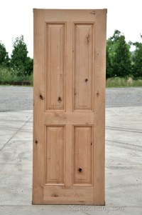 Rustic Exterior Wood Doors in Knotty Alder