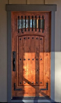 Knotty Alder Exterior Doors - Photos Wall and Door ...