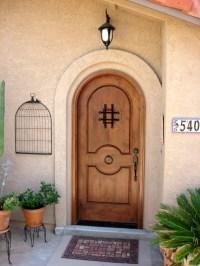 Rustic Round Top Doors - Rustic Arch Top Entry Doors