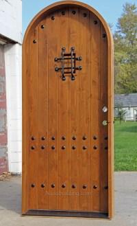 Rustic Wood Interior Door With Arched Top
