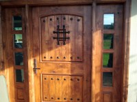 Rustic Exterior Doors with Sidelights - Knotty Alder Wood ...
