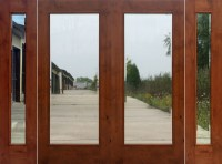 Rustic French Doors with Sidelights - Solid Knotty Alder Doors
