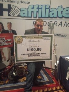 Publisher Clearing House Affiliate Won $100 At ASW14
