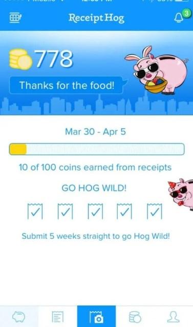 Receipt Hog App Screenshot