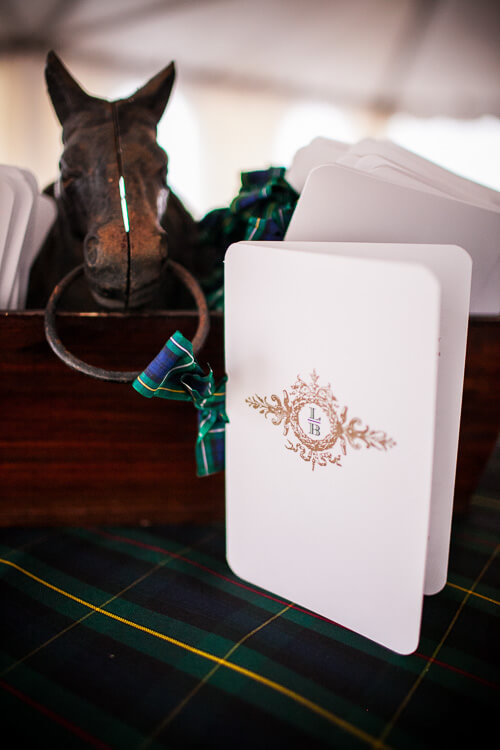 custom monogram wedding