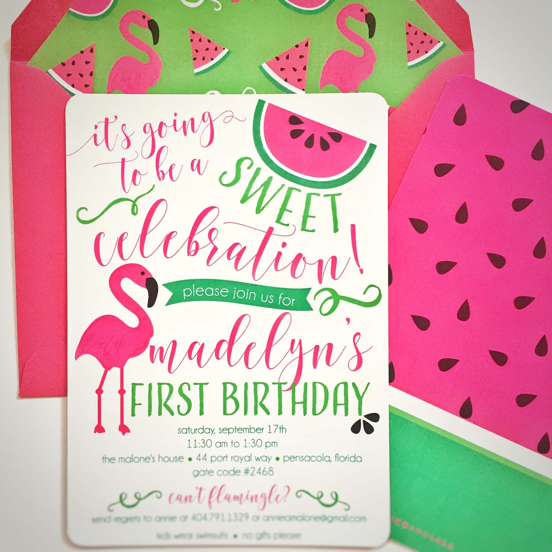 Flamingo Watermelon Birthday Nico Amp Lala