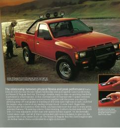 1987 nissan truck d21 dealer brochure us market [ 3329 x 3156 Pixel ]