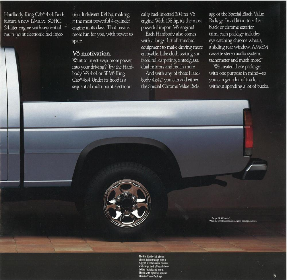 medium resolution of 1990 nissan hardbody trucks dealer brochure