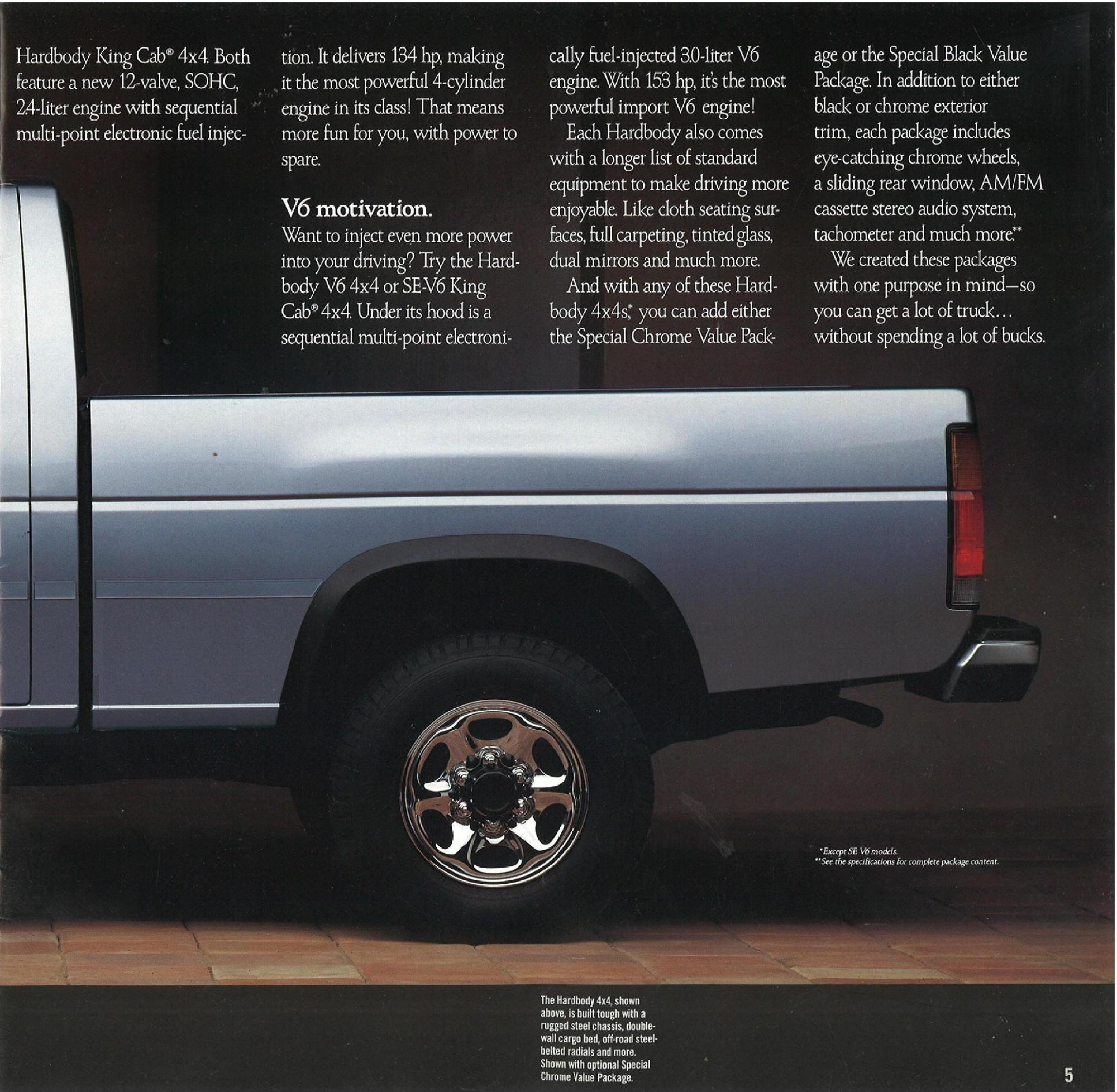 hight resolution of 1990 nissan hardbody trucks dealer brochure