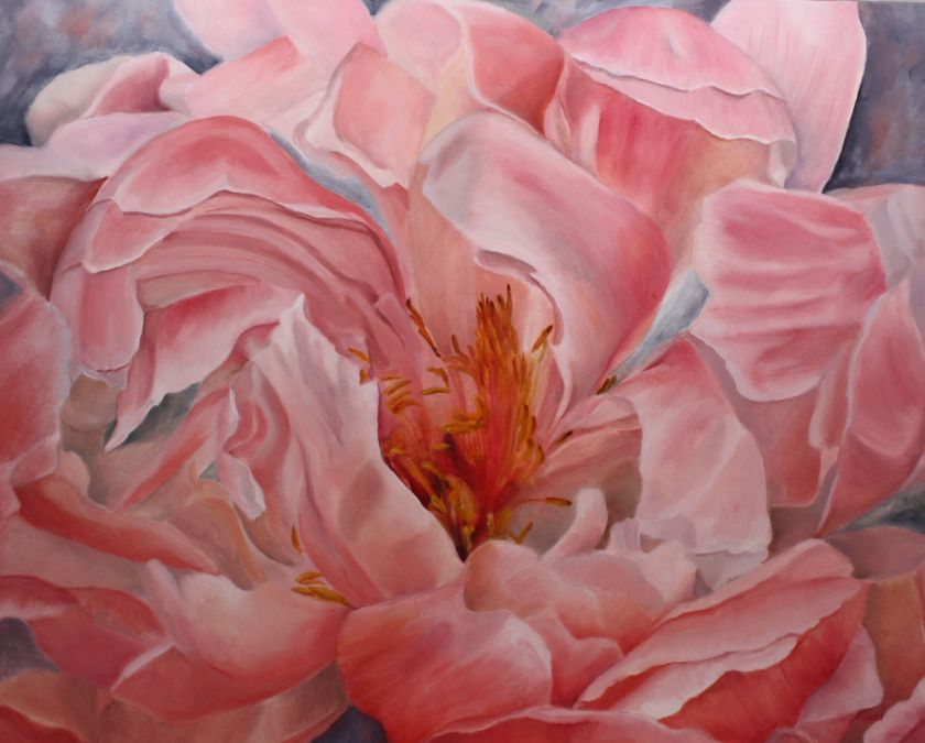 New Painting – Dancing Peony in water