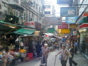 A market in Hong Kong