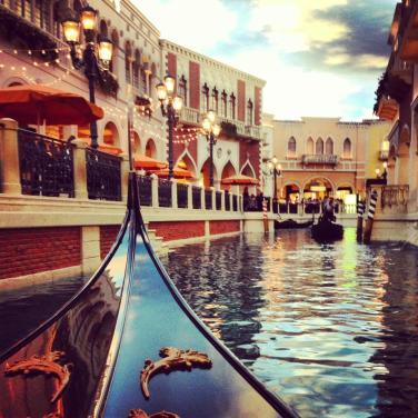 Gondola ride at the Venetian Hotel
