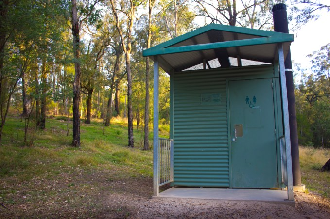 A dunny at Euroka Campground near the Blue Mountains, Australia