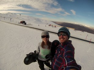 Snowboarding at Cardrona