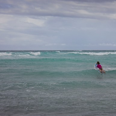 Catching some waves in Barbados