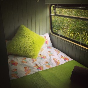 Bedroom 1 on the Big Green Bus