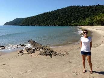 Me on the beach at Etty Bay, Australia