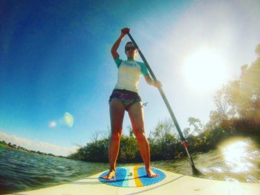 Paddle boarding in Noosa