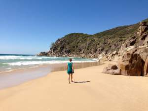 Me, strolling along Little Bay, NSW, Australia