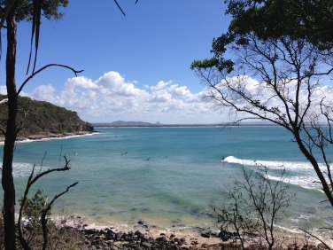 Surfers at Noosa National Park