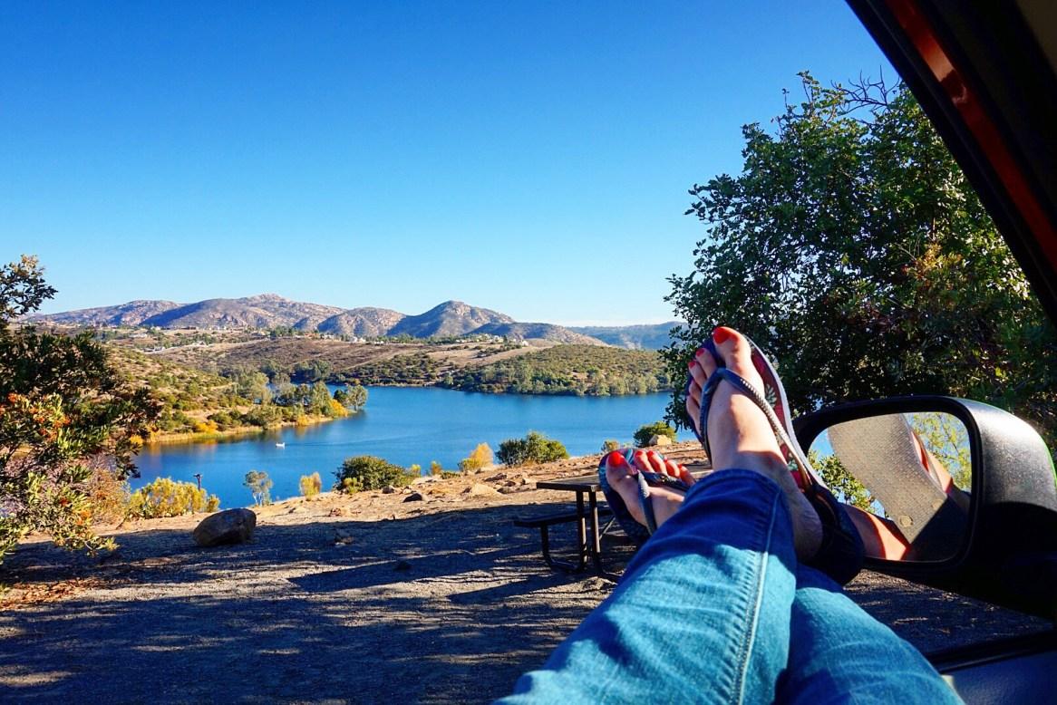 Relaxing at Lake Jennings
