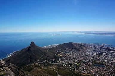 Incredible views from Table Mountain