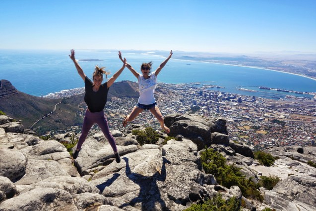 Jump! On top of Table Mountain