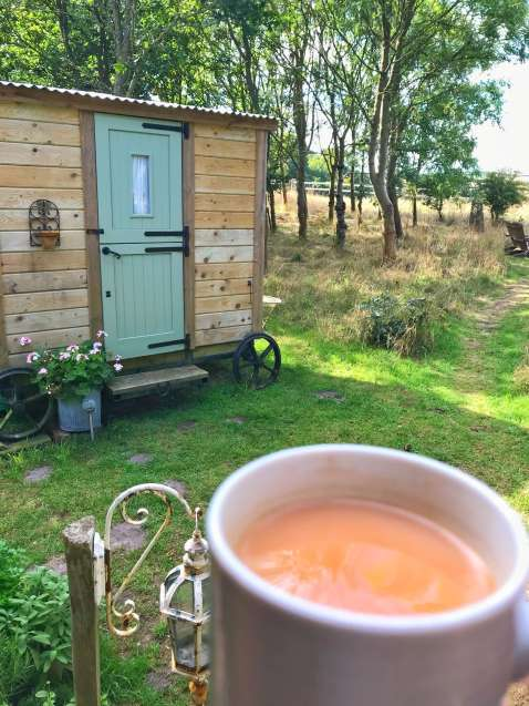 Glamping with a cuppa